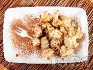 Десерт от карфиол с какао и кокосова сметана